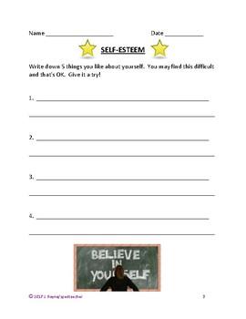 Self-Esteem Activities for Secondary Life Skills Students