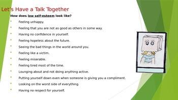 Self-Esteem 1: How Self-Esteem Looks Like