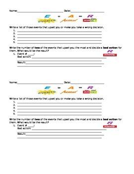 Self-Esteem 2: Events-Action-Result Worksheet