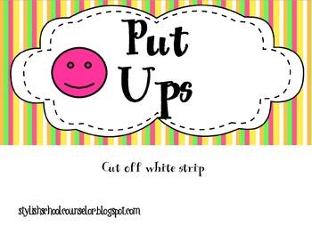 Self Esteem Activity: Put Ups and Put Downs