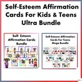 Self- Esteem Affirmation Cards for Kids and Teens Ultra Bundle