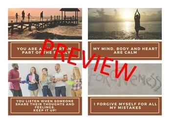 Self - Esteem Affirmation Cards for Teens