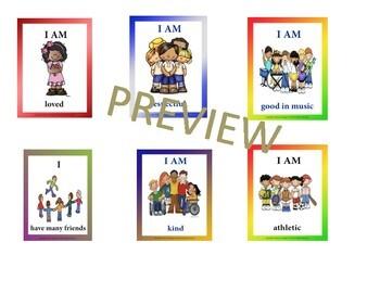 Self-Esteem Affirmation and Keep Calm Flash Cards Bundle