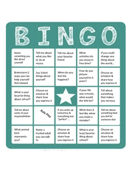 Self Esteem BINGO