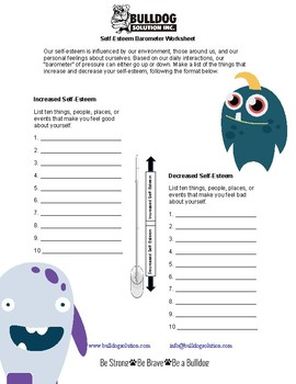 Self-Esteem Barometer Worksheet