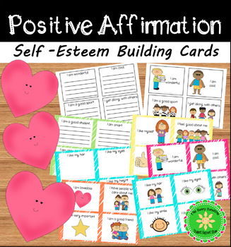 Positive Affirmation Self-Esteem Building Cards