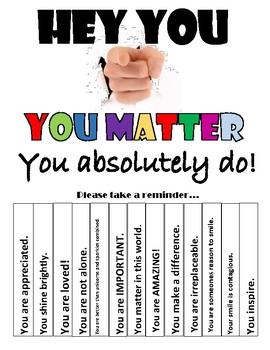 Self Esteem Building - You Matter