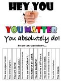Self Esteem Building - You Matter, Complete Set