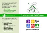 Self Esteem Challenge Pack - targets, posters & worksheets for self confidence