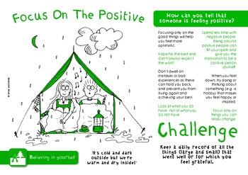 Self Esteem Challenge Pack - targets, posters & worksheets for self confidence