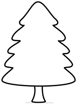 Self-Esteem Christmas Trees Lesson and Activity