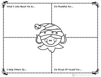 Christmas Worksheets.Self Esteem Christmas Worksheets Activities