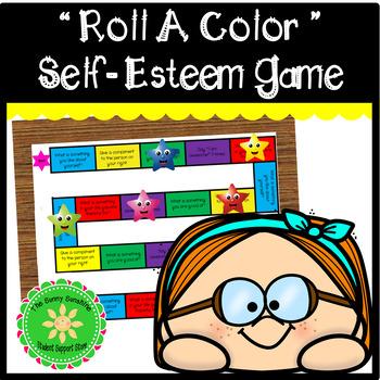 Roll a Color Self-Esteem Game