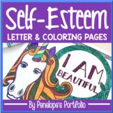 Self-Esteem Activity:  Self-Esteem Letter & Coloring Pages / Self-Esteem Posters