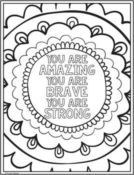 Self Esteem Coloring Pages | Self Esteem Posters | 10 Fun ...