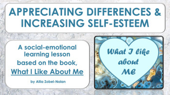 """Self-Esteem Lesson """"What I Like About Me"""" w 4 videos PBIS"""