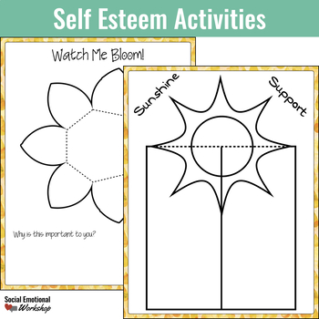 Self Esteem Lesson, Survey, and Activities