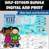 Self-Esteem Group BUNDLE: Slide Deck and Workbook Self-Talk, Body Image, Etc.