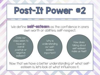 Self-Esteem Life Skills Lesson