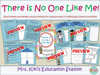 Self-Esteem Packet with Worksheets and Activities- Perfect for small groups!