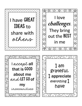 Self-Esteem: Positive Self-Talk Cards To Retrain The Stinking Thinking Brain
