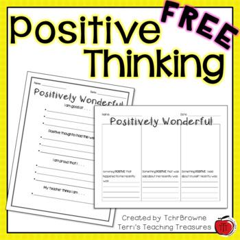 Self Esteem: Positive Thinking Worksheets