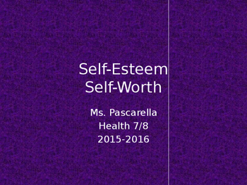 Self-Esteem PowerPoint