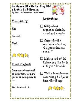 Self -Esteem Reading Activity