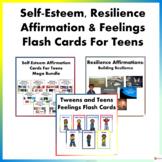 Self-Esteem, Resilience, & Feelings Flash Cards For Teens Mega Bundle