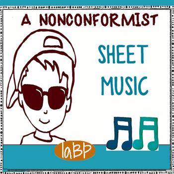 """Self Esteem Song """"A Nonconformist"""" Sheet Music"""