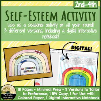 Self Esteem Activity: Paper or Digital Flip-Book