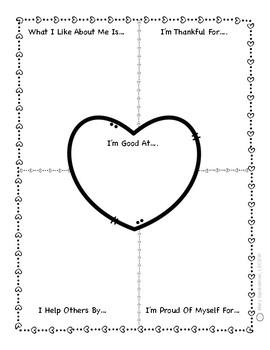 Self Esteem Worksheets & Minibook