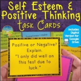 Self-Esteem and Positive Thinking Task Cards - Distance Learning