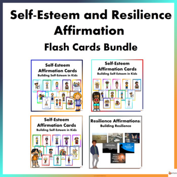 Self-Esteem and Resilience Affirmation Cards Mega Bundle