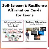 Self - Esteem and Resilience Affirmation Cards for Teens Mega Bundle