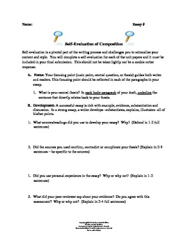 Student Self-Evaluation of Writing