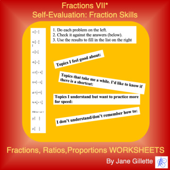 Self-Evaluation: Fraction Addition, Subtraction, Multiplication, Division