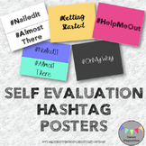Self Evaluation Hashtags Posters