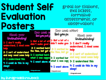 Self Evaluation Posters