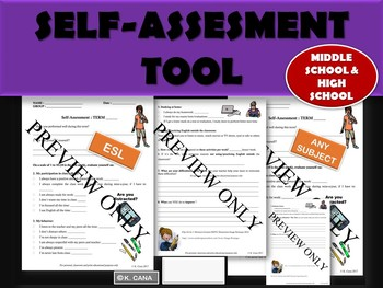 CLASSROOM FORM: Self-Evaluation - End of Term (back to school material)