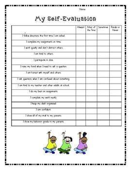 Self-Evaluation for Parent-Teacher Conferences