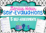 Self-Evaluations for Genius Hour - Editable!
