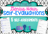 Self-Evaluations for Genius Hour - Editable!