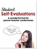 Self-Evaluations for Parent-Teacher Conferences {Freebie}