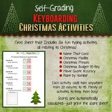 Christmas Keyboarding Typing Activities - Self-Grading!
