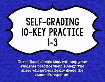 Self-Grading 10-Key Practice in Excel