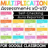 Self Grading Digital Multiplication Tests for Google Classroom™