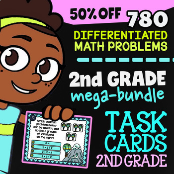 Self-Grading Google Classroom | 2nd Grade Math Review Task Cards (Digital)