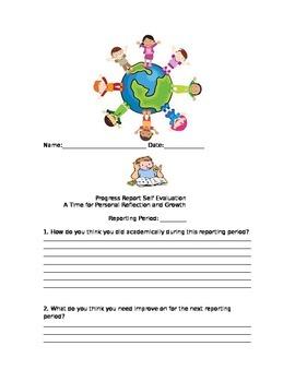 Self Grading Progress Report--Reflecting on Growth