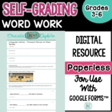 Digital Self Grading Grammar Word Work for Use with G-Suit